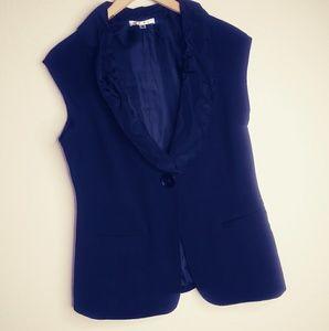 Black cabi suit short sleeve jacket size 6